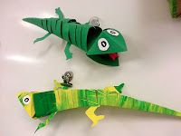 Art with Ms. Gram: Chameleon Paper Sculptures (3rd/4th/5th)  Has a good description and diagram of how to make the heads.
