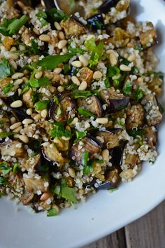 Eggplant and quinoa pilaf | Scaling Back
