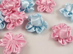 20pcs Ribbon Buns Flower Bows Appliques Wedding DIY Craft Upick (Mix) * Check out this great product.