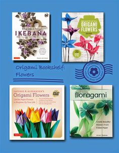 Origami flowers, recent titles: http://thepapercraftpost.blogspot.co.uk/2014/11/origami-bookshelf-round-up.html