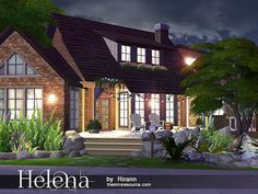 Helena house by Rirann at TSR • Sims 4 Updates