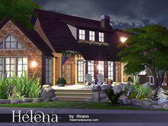 Helena house by Rirann at TSR via Sims 4 Updates