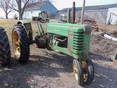Styled JOhn Deere Model B tractor