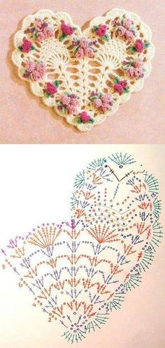 Crochet Heart Motif - Free Crochet Diagram - (crochetoriginal.blogspot)