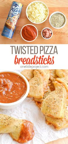 These twisted pizza breadsticks are delicious and they're so easy to make! They're an impressive appetizer or snack and they only take about 20 minutes to make. Seriously, it's ridiculous how simple they are but how awesome they turn out. I love things that look amazing, taste amazing, and barely take any time to put together! Pizza Recipes, Lunch Recipes, Easy Dinner Recipes, Fall Recipes, Easy Meals, Cooking Recipes, Yummy Appetizers, Appetizer Recipes, Italian Dishes