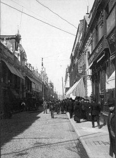 Vista de la Calle Estado de Santiago en el año 1906.