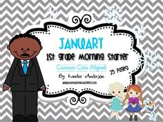 January morning work! Includes math, social studies, writing, reading and some special winter characters! : )