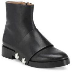 Alexander Wang Hanne Leather Ankle Boots