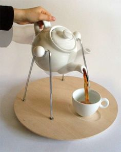 The Rocking Teapot Eases the Hassel of Pouring Tea #tea trendhunter.com