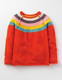Rosehip Multi Stripe Rainbow Sweater Boden