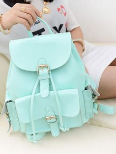 Choies Mint Green Preppy Style Backpack | Choies