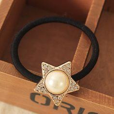 Korean Original Bow Simulated Pearls Flowers Rubber Band Casual Hair Ring for Women Headwear Hair Accessories