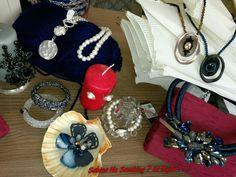 Collane girocollo oro.blu e perle ....i Vetrina #sabinanosmokingsibijou