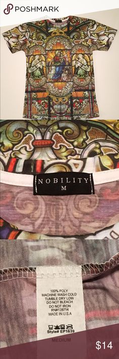 Nobility Full Sublimation Graphic Iconic Shirt Med Fantastic Full Sublimation Iconic Graphic Shirt By Nobility. Made In The USA And 100% Polyester.And It Is Listed As A Size Medium. This Beautiful Shirt Is In Excellent Used Condition With No Tears Or Stains. Nobility Tops Tees - Short Sleeve