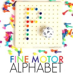 Alphabet Dice Letter Formation Fine Motor Activity