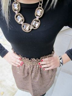 Glitter skirt, I want one for the holiday season!