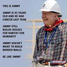 Former President Jimmy Carter Collapsed From Dehydration During Habitat For Humanity Build. After Being Med-Evacced To Hospital Via EMS, Jimmy Was Back 24 Hours Later To Continue Work. Oh Yeah AND He Voted For Bernie Sanders B/C Great Minds & Great People Think & ARE Alike
