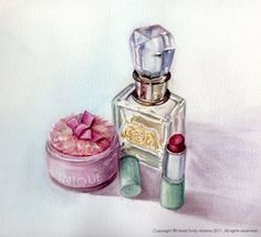 Heidi Emily Adams Illustration: Perfume, a Pink Powder Puff...