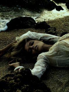 "Julia Stegner in ""Blanc Soleil"", photographed by Mikael Jansson for Vogue Paris June/July 2005."