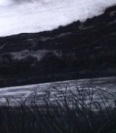 Original South Downs charcoal drawing by Zoe Bailey