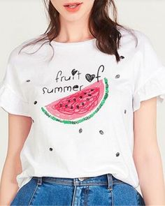 9028839f7 31 Best watermelon t shirt for women images | T shirts, T shirts for ...