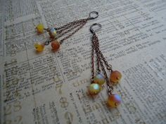 les peches earrings by ljctree on Etsy, $8.00