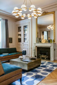 elegant and dramatic interior design ideas by Gerard Faivre Paris 15: