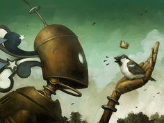 brian Despain robot   #art #artwork #illustration