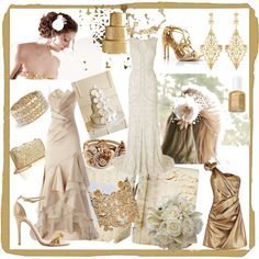 Gold Wedding by fanciestrands on Polyvore