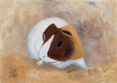 Little Guinea Pig Original aceo Painting by luvs2paint on Etsy, $15.00