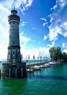 Lindau Lighthouse is a photograph by Anthony Dezenzio. The Lindau Lighthouse is the southernmost lighthouse in Germany, located in Lindau on Lake Constance. It is one of the most scenic and photographed lighthouses in Germany. Source fineartamerica.com
