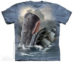 The Mountain Fantasy T-shirt   Moby Dick, New 2014 Adult T-shirts from The Mountain, 103659