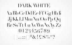 dark white typeface | craig ward