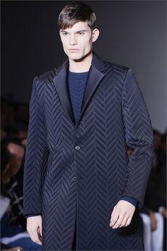Sfilata Calvin Klein Collection Moda Uomo Autunno Inverno 2013-14 - Milano  (spigato by Termoformati Italia)