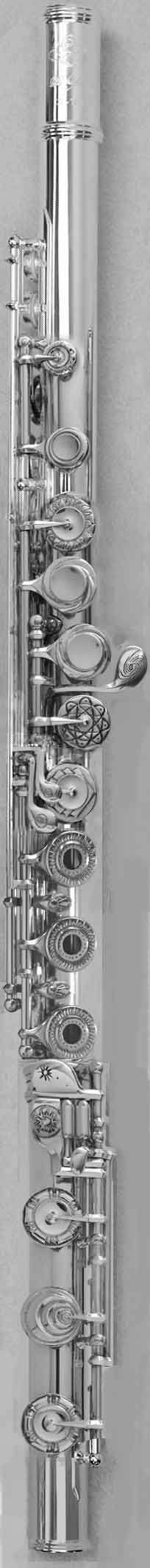 """Ends of Time""  This flute tells the story of the beginnings of the Universe in Art Deco. See if you can figure out the puzzle of the keys."