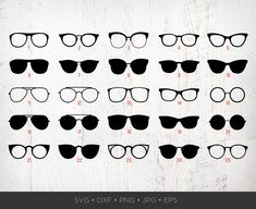 Silhouette Png, Art File, Photo Booth Props, Clips, Print And Cut, Eye Glasses, Poster Prints, Photoshop, Clip Art