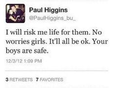 And everyone wonders why we love him so much?! Paul is awesome!!