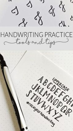10 Handwriting Tutorials for Your Bullet Journal