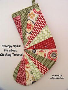 Scrappy Spiral Stocking Tutorial