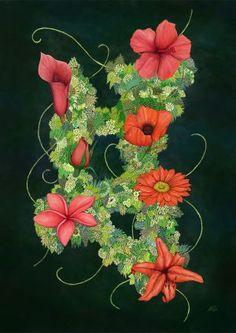 digital art by Michael Löffler Creative Art, Digital Art, Wreaths, Artwork, Home Decor, Creative Artwork, Homemade Home Decor, Work Of Art, Door Wreaths