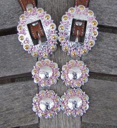 Diamond B Jewelry - Custom Made Buckle Sets  Lt Pink Gold Berry Bright Buckle set