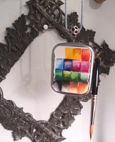 A Wearable Watercolor Paint Set In A Tin by FineMiniatureArts