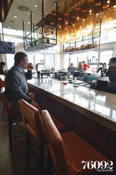 Del Frisco's Grille bar, 76092 Magazine, Spring 2014 #delfriscosgrille #restaurantdecor