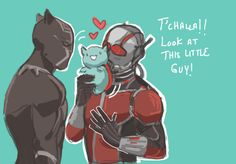 T'challa and Scott by cpointss
