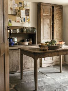 """Robert Kime's kitchen in the Longsleddale Valley in the north of England (Cumbria). Rita Konig, """"At Home and Away With the Decorator Robert Kime,"""" New York Times T Magazine (12 November 2014)."""