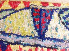 Rag Rug of the Month - Lizzie Reakes Design - Ragged Life Textiles Techniques, Textile Artists, Rug Hooking, Art Lessons, Fashion Art, Applique, Quilts, Blanket, Rugs