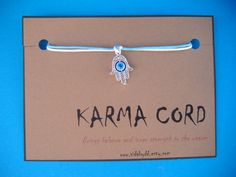 KARMA CORD  Bringing the Wearer Balance and Inner by VidaByDD, $4.95
