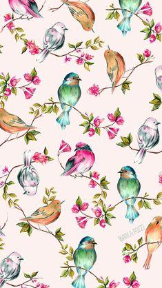 A Ilustradora Bianca Pozzi E De Londrina Pr Tem  Anos E E Ilustradora  C B Pretty Phone Wallpaperbird Wallpaperflower Iphone
