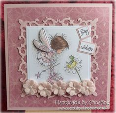 Fairy card - handmade - pink (my favourite colour!)
