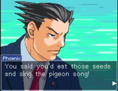 Phoenix Wright Ace Attorney is a very serious game... apparently.